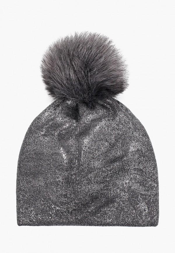 шапка coccodrillo для девочки, серебряная