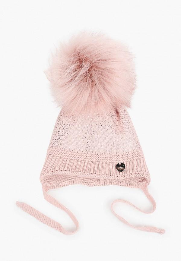 шапка coccodrillo для девочки, розовая