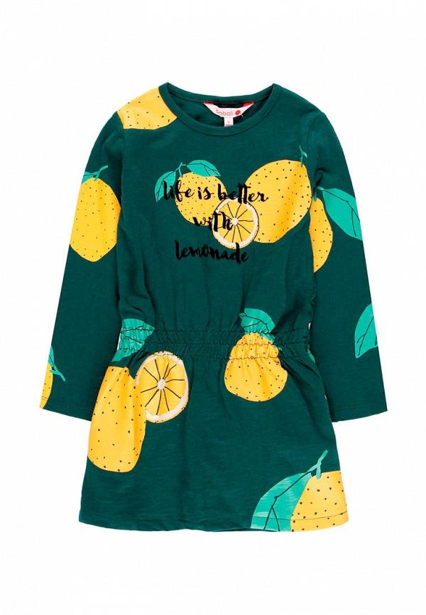 повседневные платье boboli для девочки, зеленое