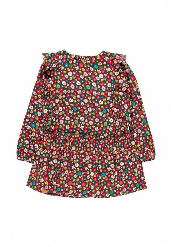 повседневные платье boboli для девочки, бордовое