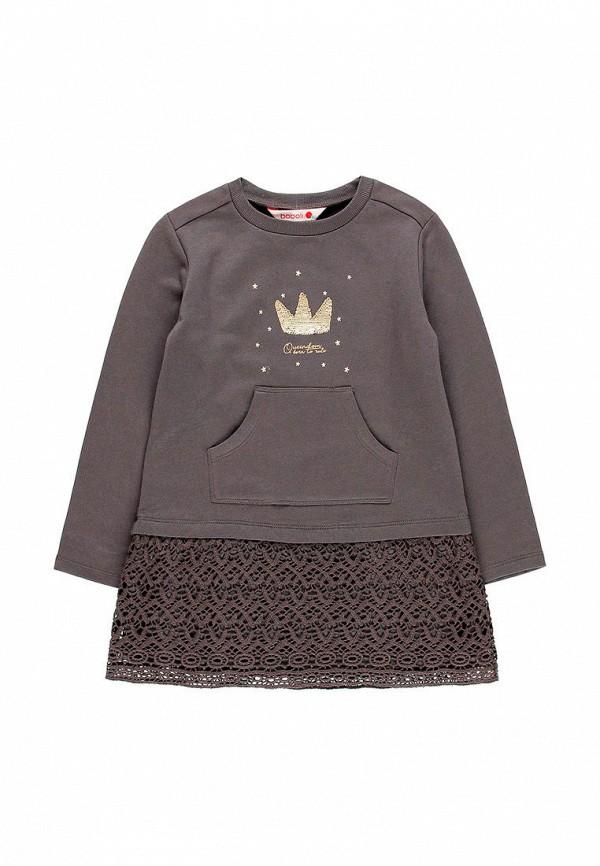 повседневные платье boboli для девочки, серое