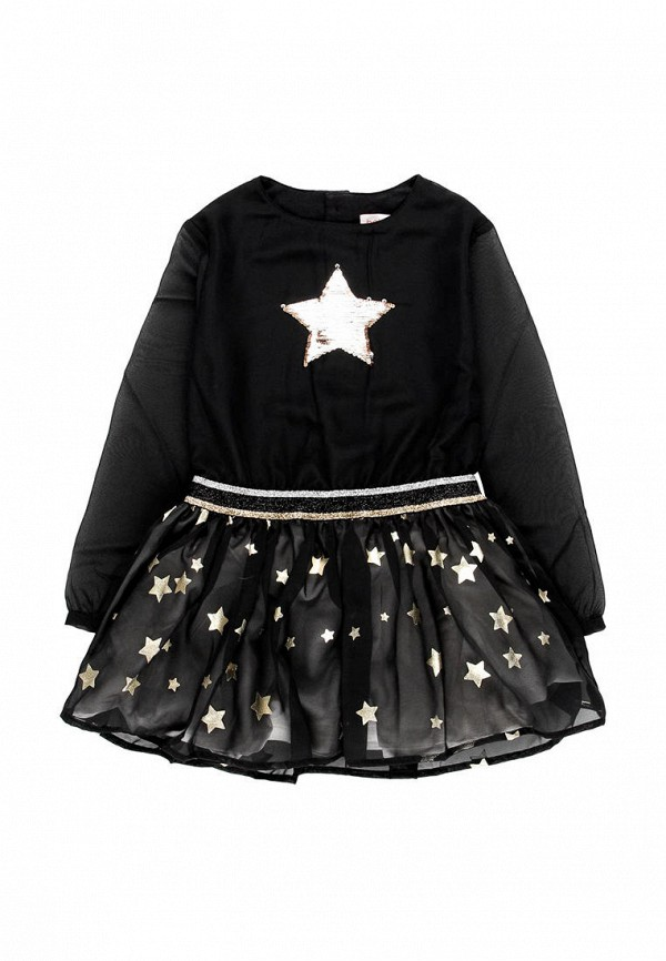 повседневные платье boboli для девочки, черное