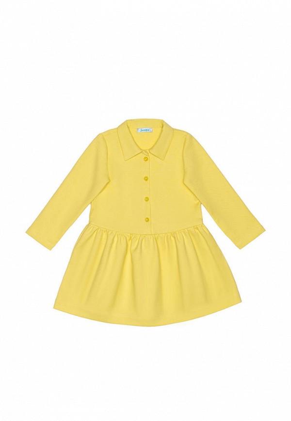 повседневные платье sonata kids для девочки, желтое