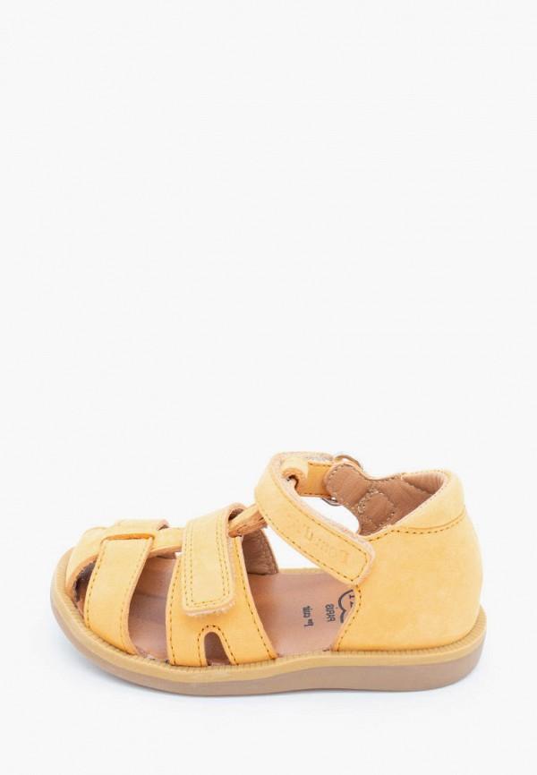 сандалии pom d'api для девочки, желтые