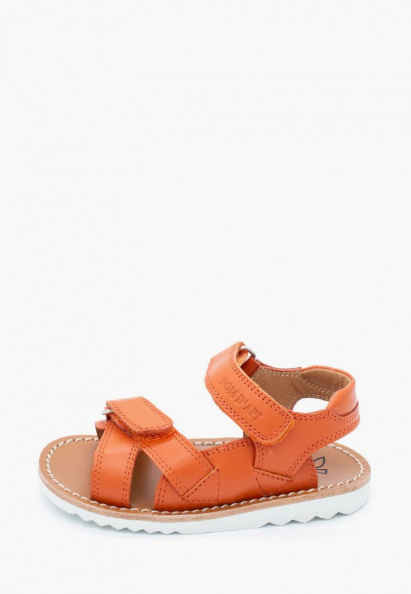 сандалии pom d'api для девочки, оранжевые