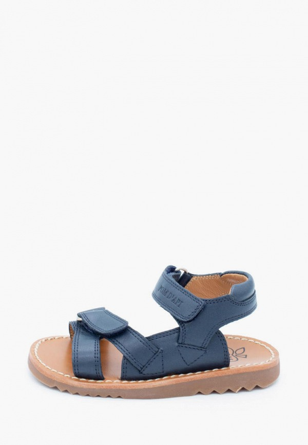 сандалии pom d'api для девочки, синие