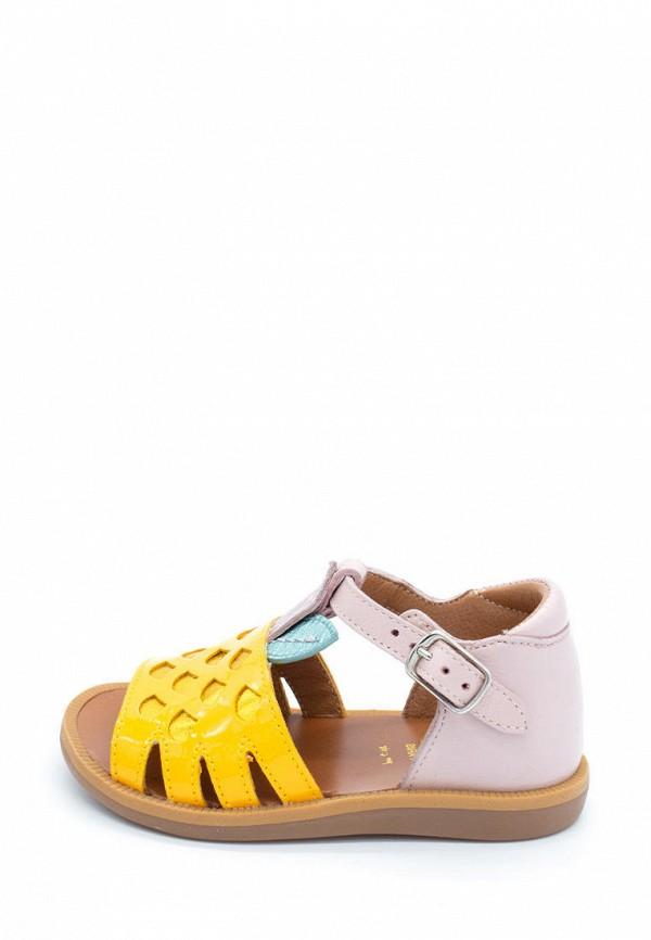 сандалии pom d'api для девочки, разноцветные