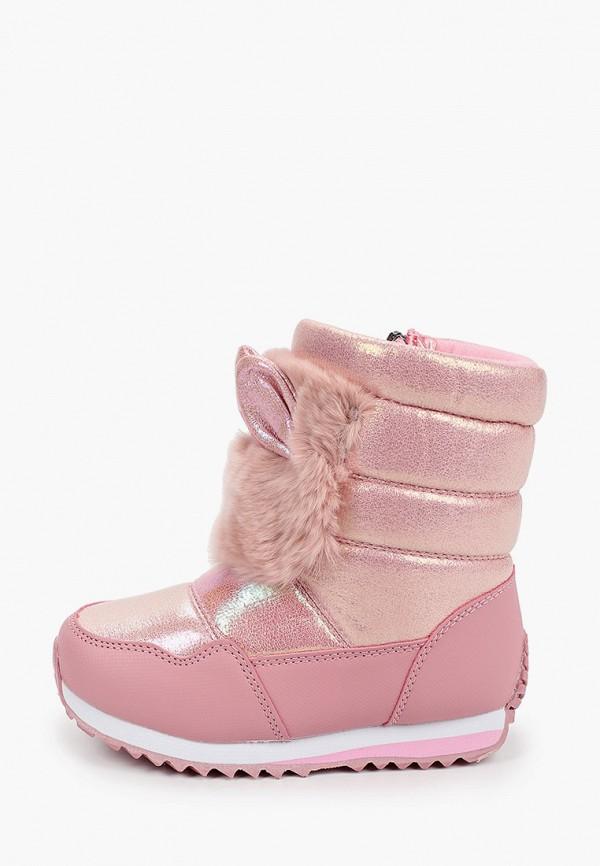 дутики капитошка для девочки, розовые