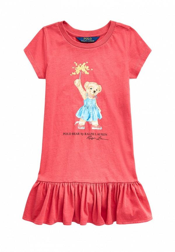 повседневные платье polo ralph lauren для девочки, красное