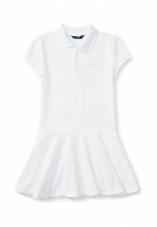 повседневные платье polo ralph lauren для девочки, белое