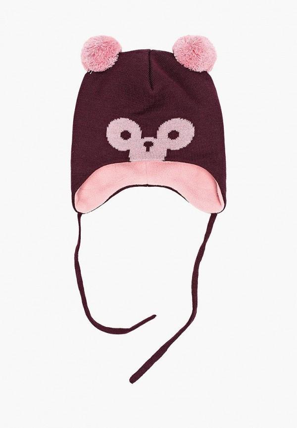 шапка reima для девочки, бордовая