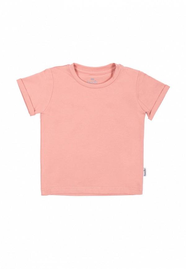 Футболка bodo цвет розовый