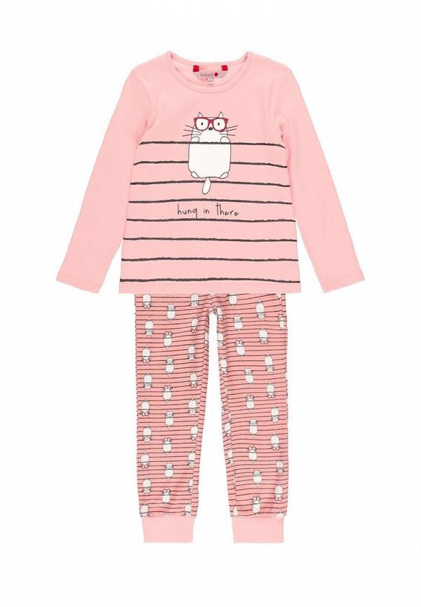 пижама boboli для девочки, розовая
