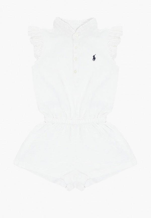 комбинезон polo ralph lauren для девочки, белый