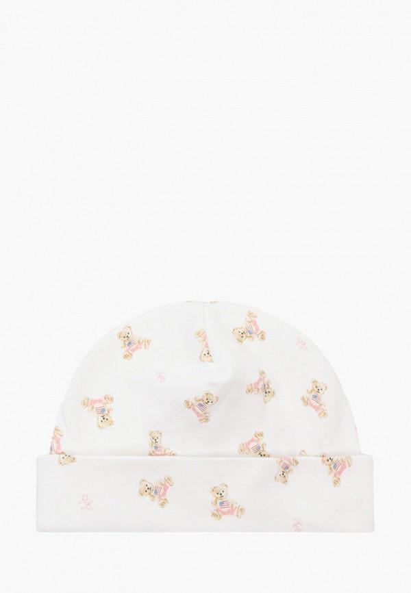 шапка polo ralph lauren для девочки, белая
