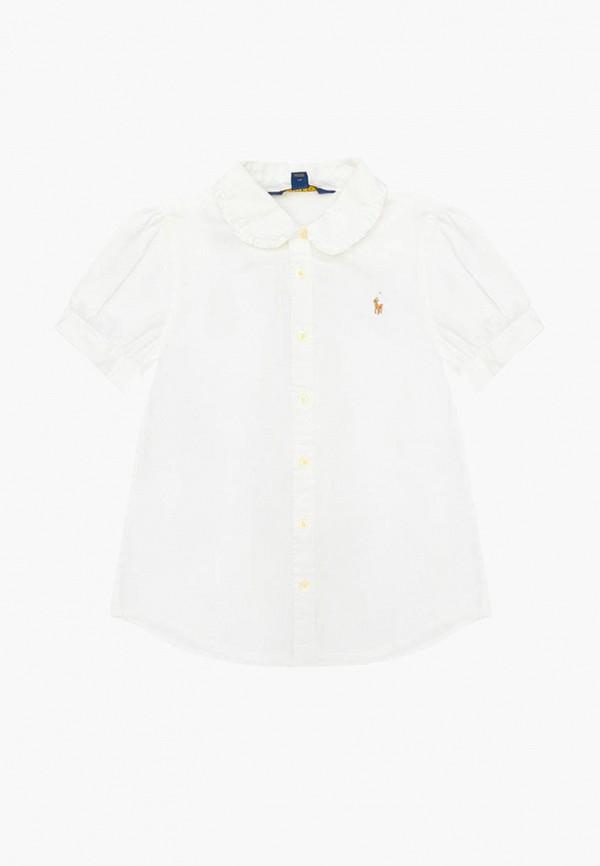 блузка polo ralph lauren для девочки, белая