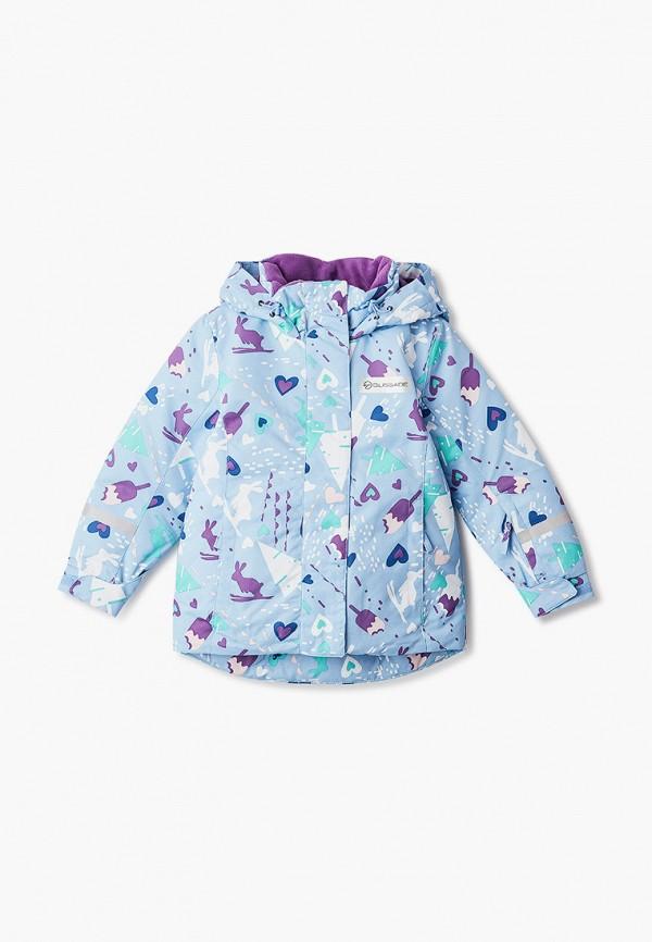 горнолыжные куртка glissade для девочки, голубая