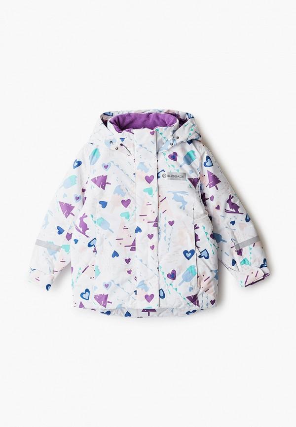 горнолыжные куртка glissade для девочки, белая