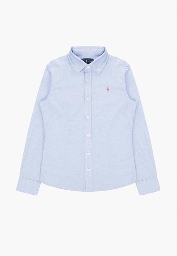 рубашка polo ralph lauren для девочки, голубая