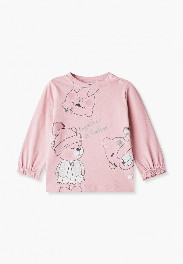Лонгслив для девочки Coccodrillo цвет розовый