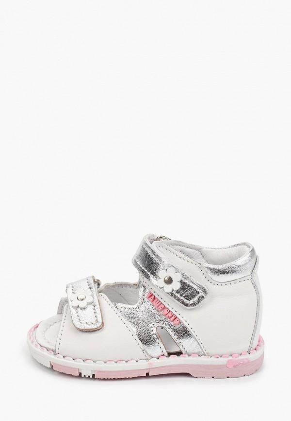 сандалии таши орто для девочки, серебряные