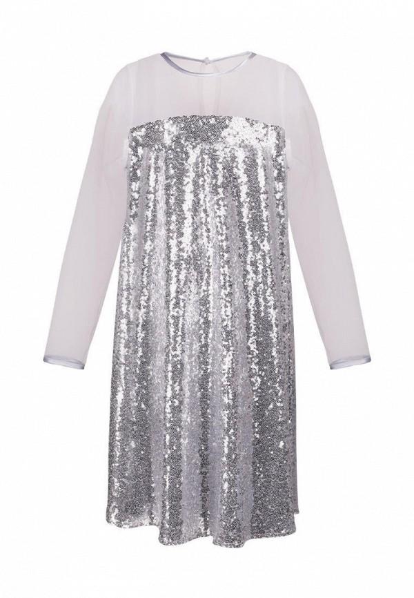 платье yumster для девочки, серебряное
