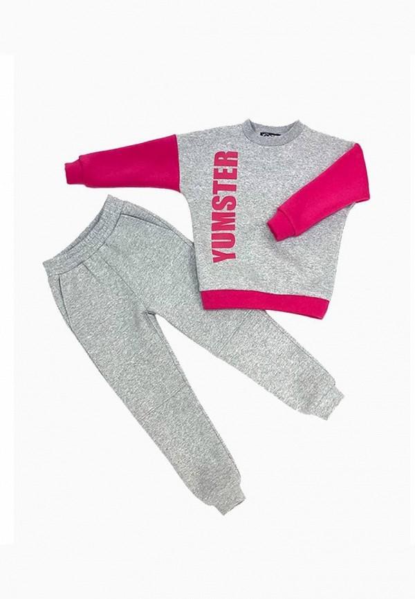 спортивный костюм yumster для девочки, серый