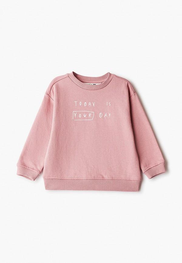 свитшот sela для девочки, розовый