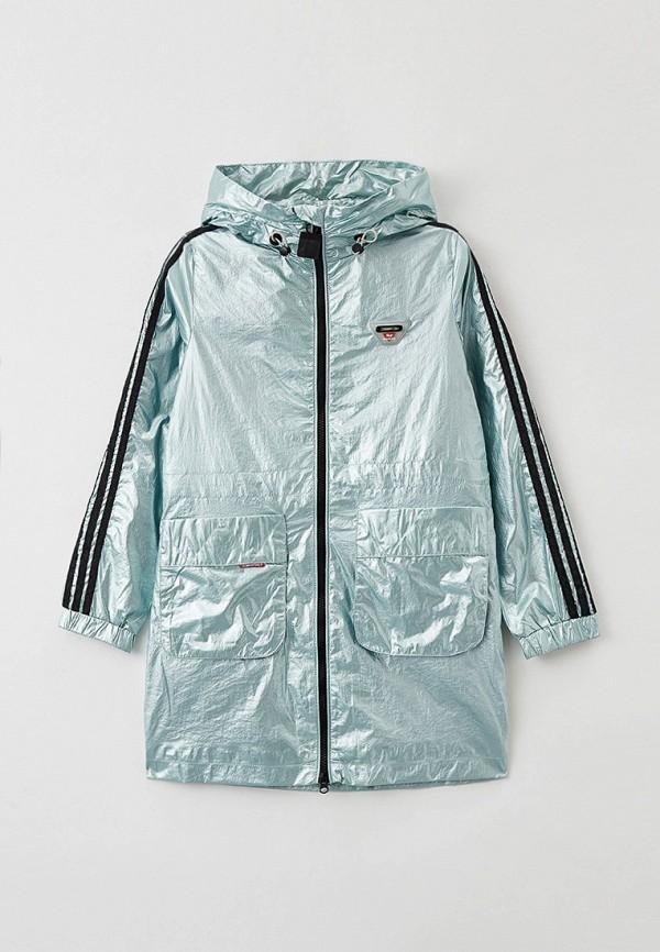 легкие куртка fobs для девочки, зеленая