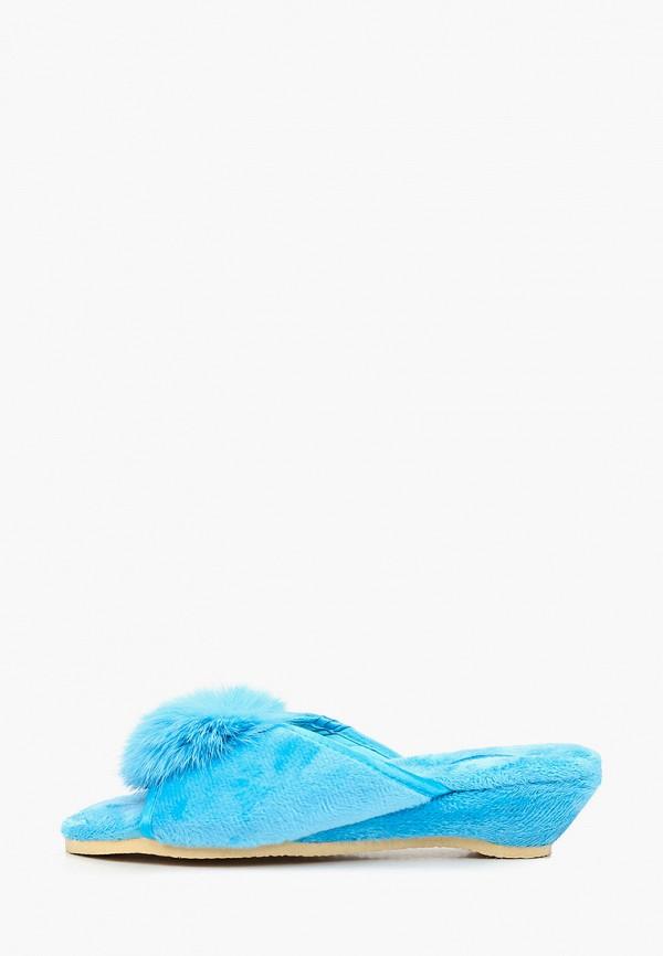 тапочки tingo для девочки, голубые