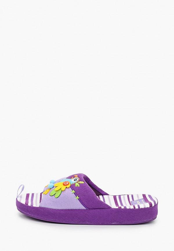 тапочки tingo для девочки, фиолетовые