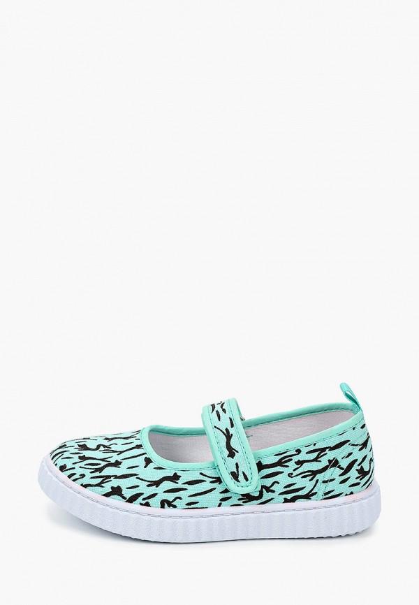 туфли coccodrillo для девочки, бирюзовые