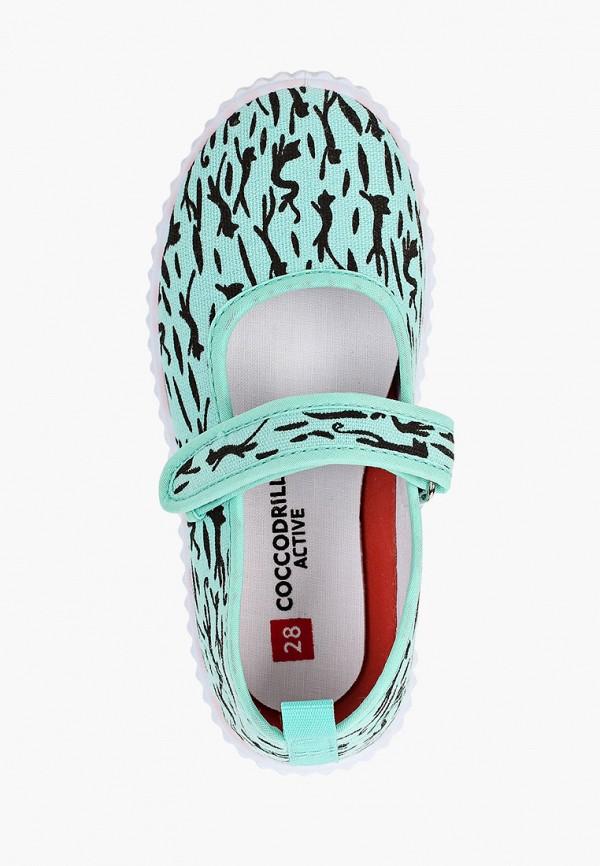 Туфли для девочки Coccodrillo цвет бирюзовый  Фото 4