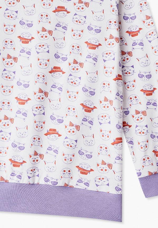 Пижама для девочки КотМарКот цвет белый  Фото 3