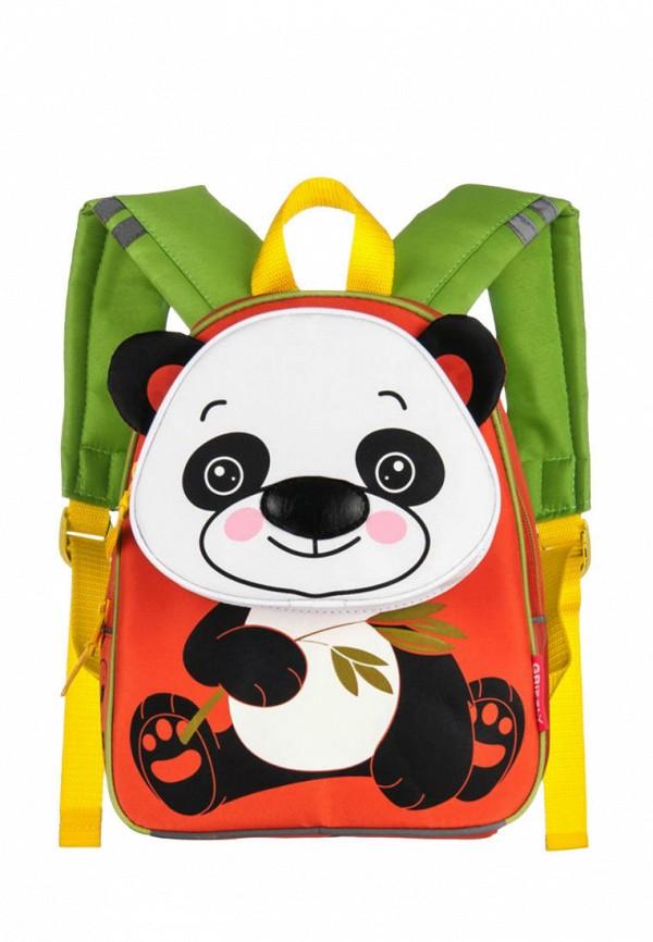 рюкзак grizzly для девочки, оранжевый