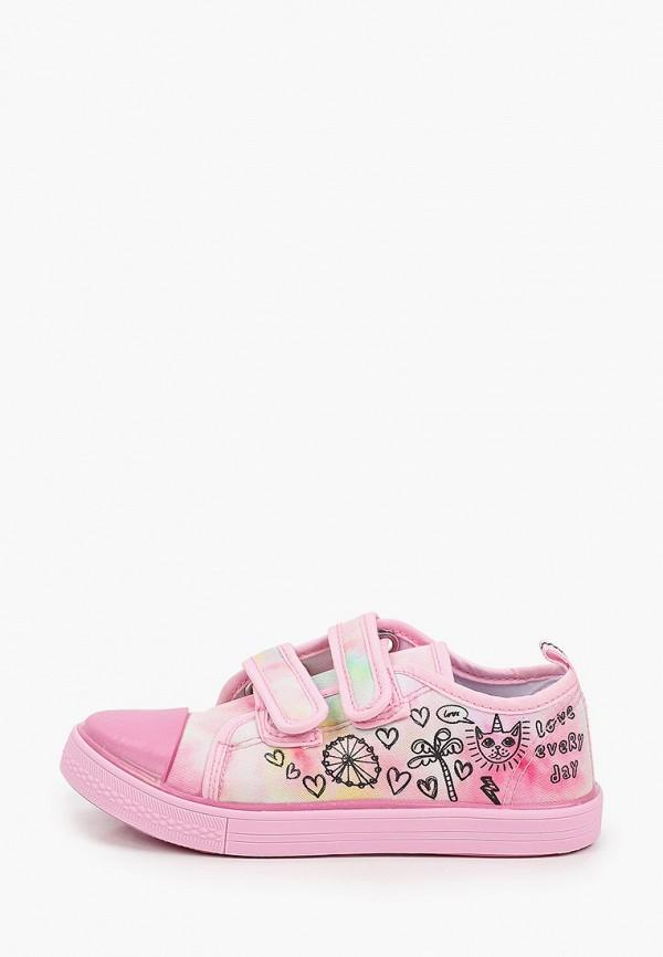 кеды coccodrillo для девочки, розовые