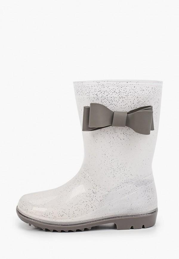 резиновые сапоги coccodrillo для девочки, серебряные