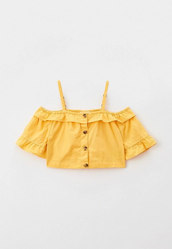 топ coccodrillo для девочки, желтый