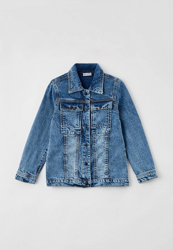 джинсовые куртка coccodrillo для девочки, голубая