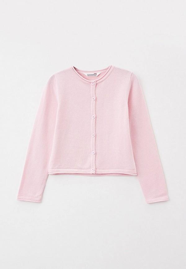 Кардиган Coccodrillo розового цвета