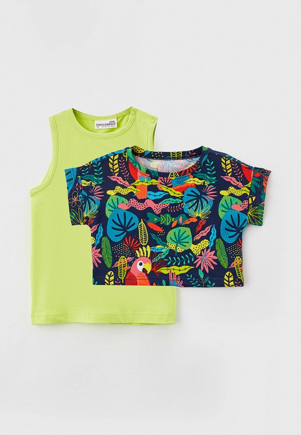 футболка coccodrillo для девочки, разноцветная