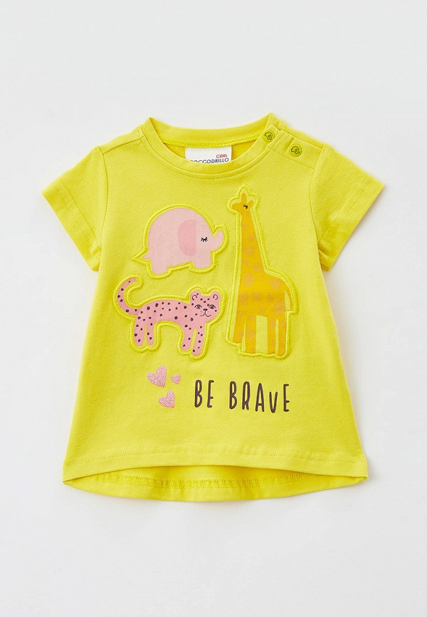 футболка с коротким рукавом coccodrillo для девочки, желтая