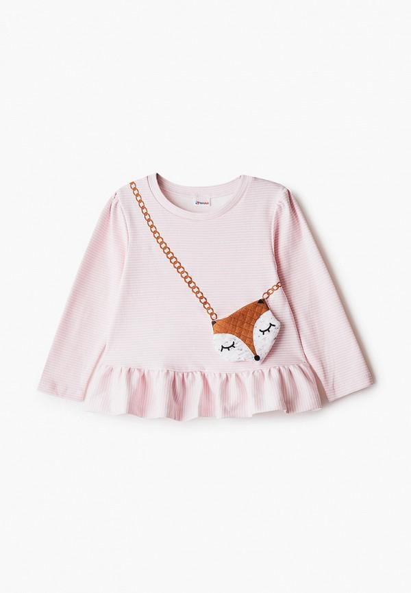 Лонгслив для девочки Youlala цвет розовый