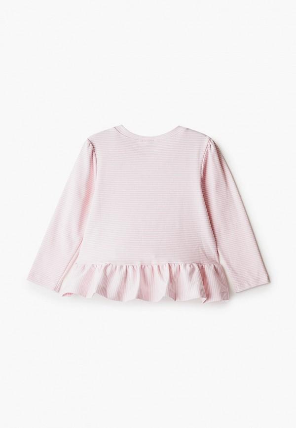 Лонгслив для девочки Youlala цвет розовый  Фото 2