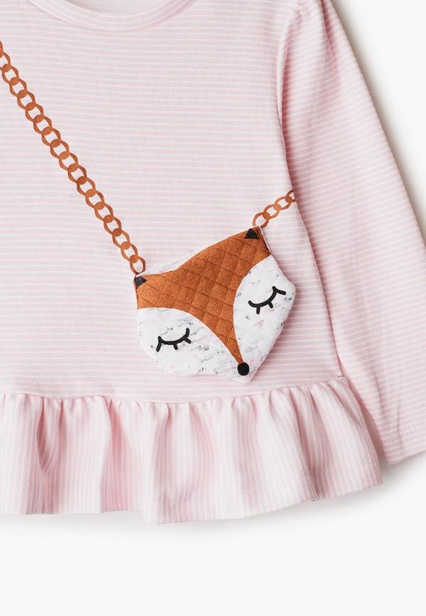 Лонгслив для девочки Youlala цвет розовый  Фото 3
