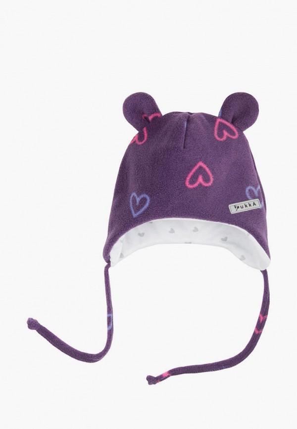 шапка zukka для девочки, фиолетовая