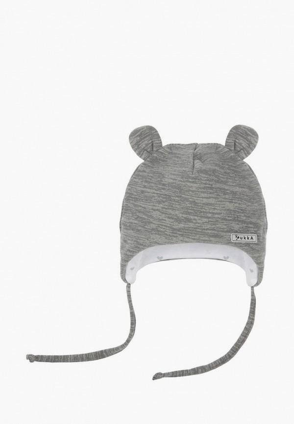 шапка zukka для девочки, серая