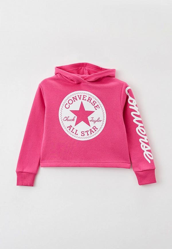 худи converse для девочки, розовые