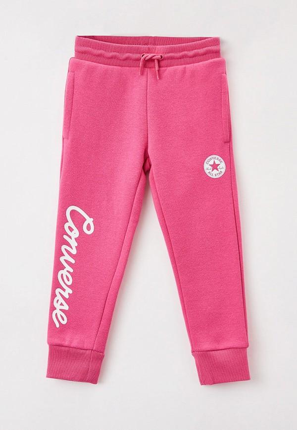 спортивные брюки converse для девочки, розовые