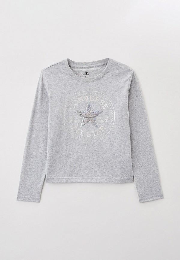 Лонгслив для девочки Converse цвет серый